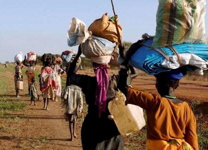 Village Residents Flee Fighting