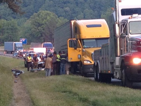 Accident on Interstate 81
