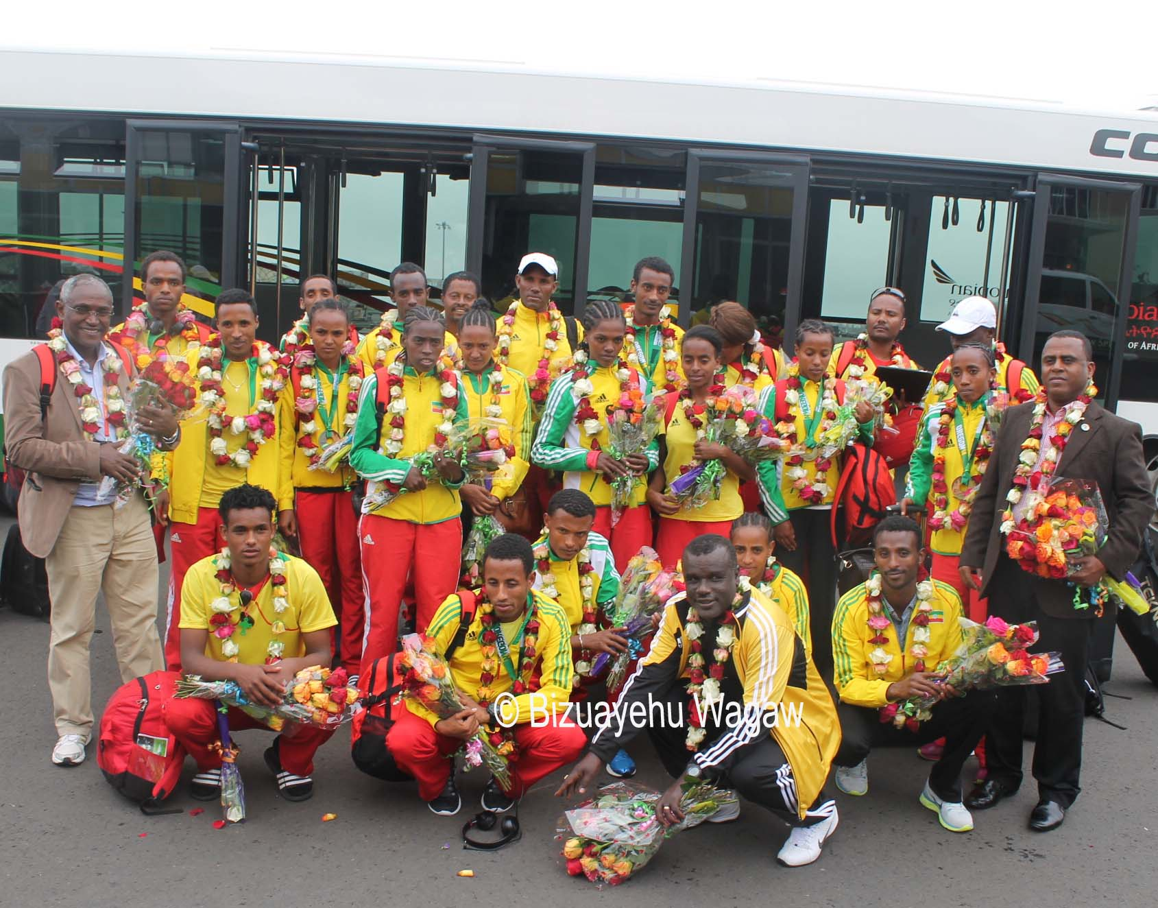 Welcome ceremony for WJC team at Bole inernational Airport