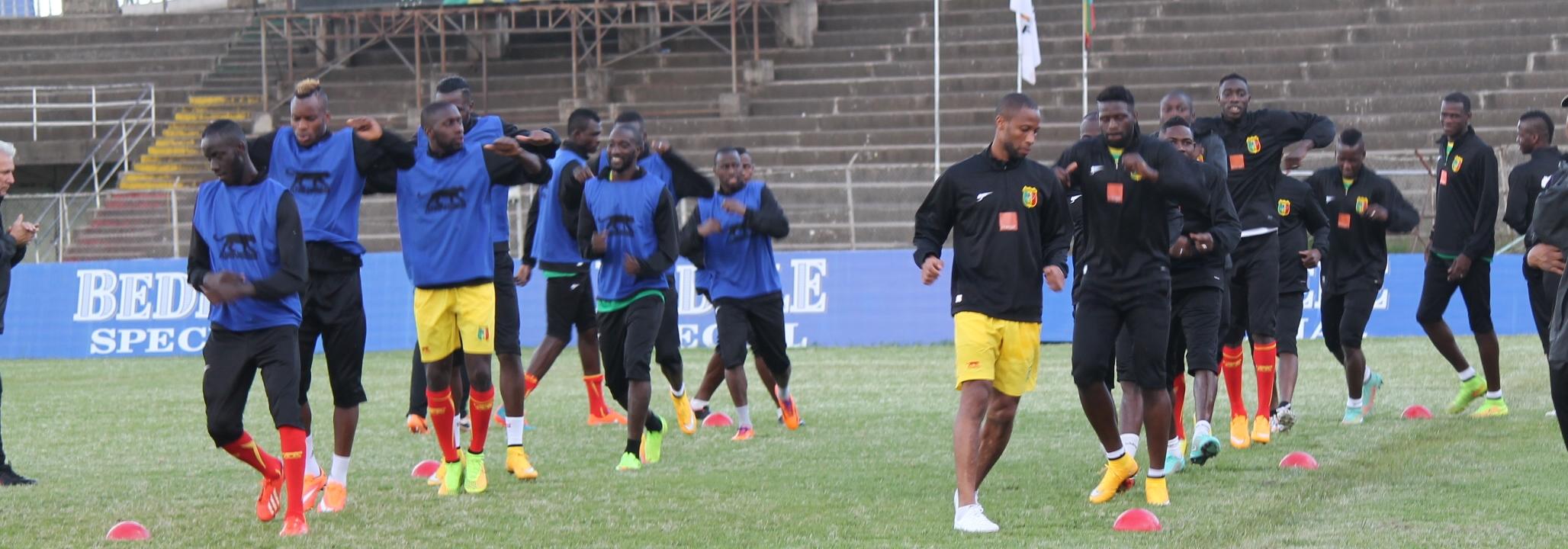 Team Mali Training at Addis Ababa Stadium