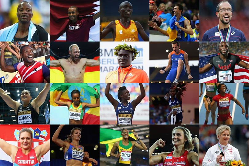 The candidates for the 2014 World Athlete of The Year Award (Photo IAAF World Athletics Club)
