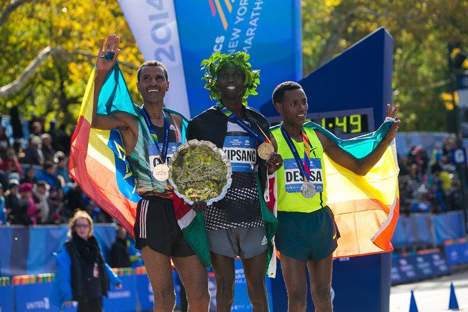 2014 New York Marathon Men Podium