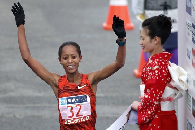 Birhane Dibaba 2015 tokyo marathon women winner
