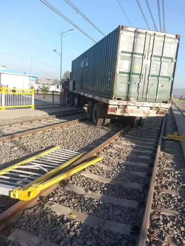 Truck accident over the new Addis Ababa Light Rail