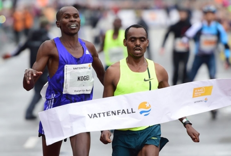Brhanu Legese wining 2015 Berlin half marathon