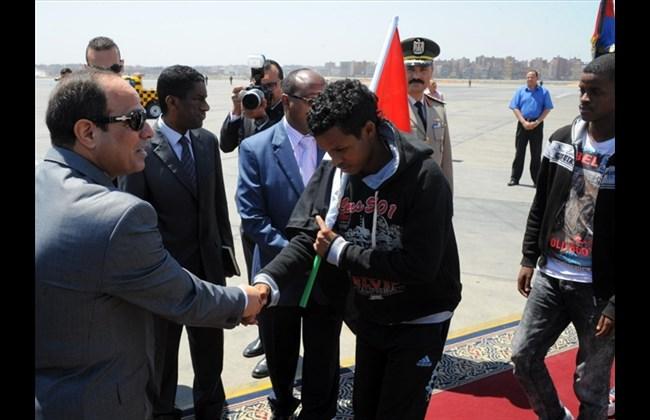 Ethiopians arrive in Ciro from Libya