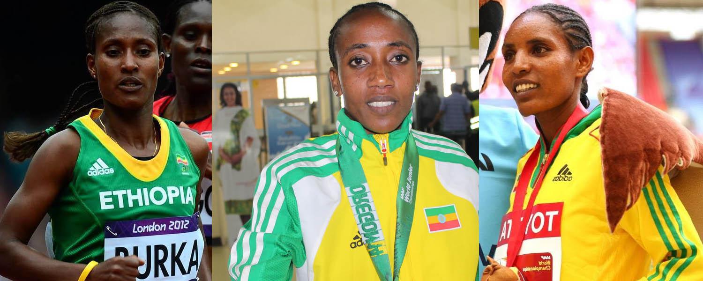 Women 10000m athletes for Beijing 2015