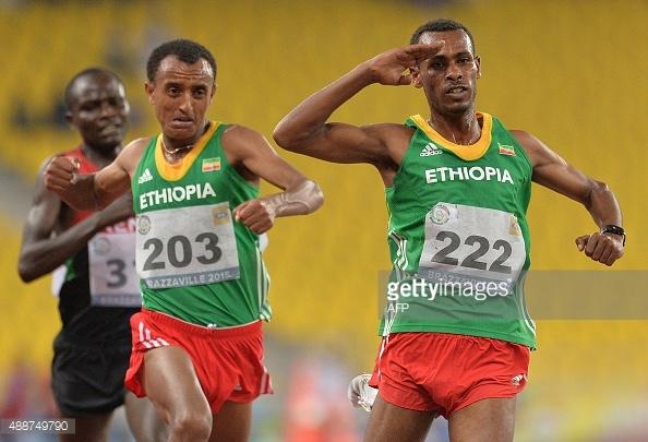 Getaneh & Leoul finishing (AFP Photo - MONIRUL BHUIYAN)