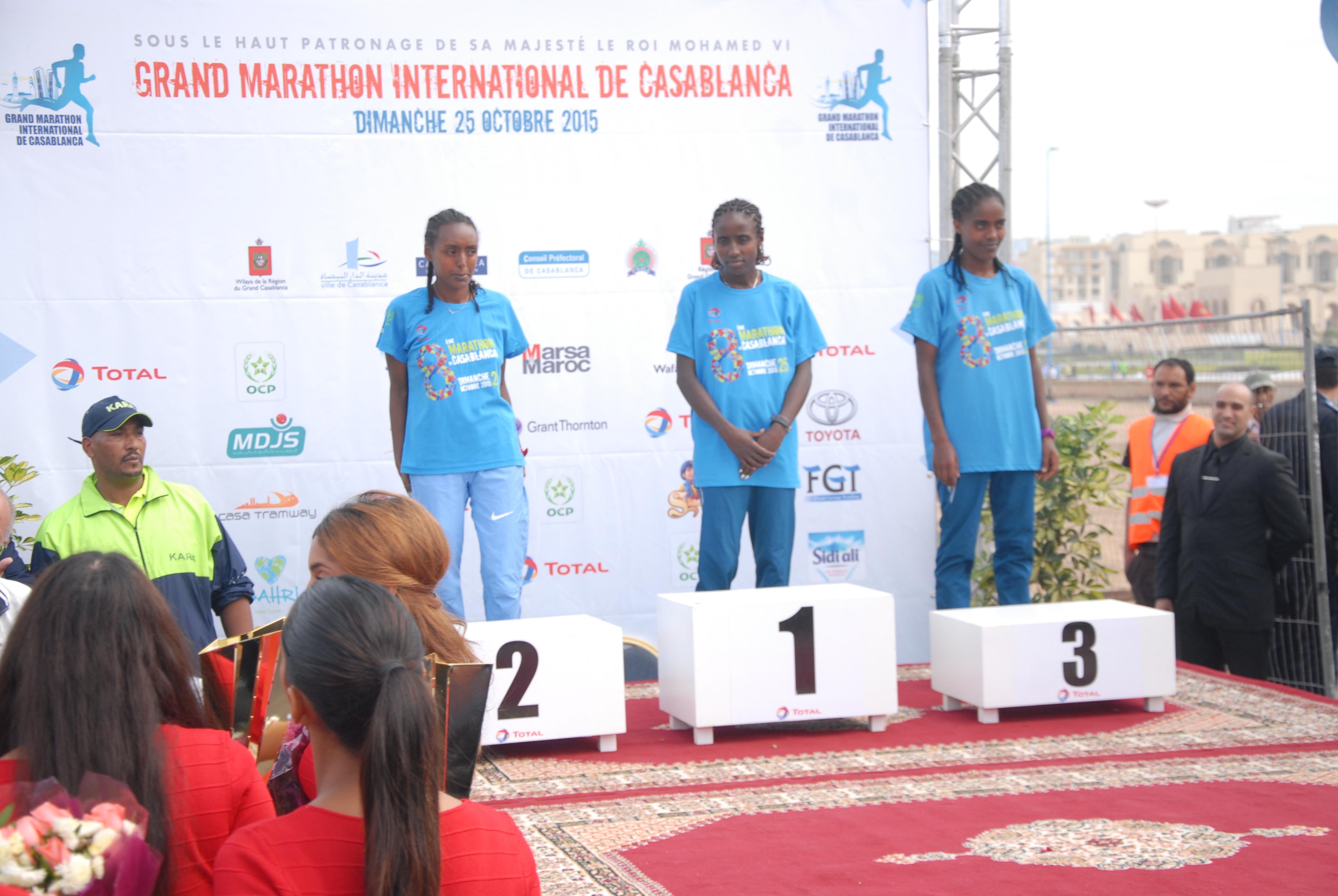 CASABLANCA Women marathon winners