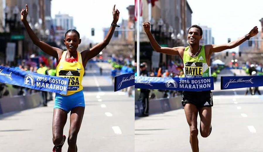 2016 Boston Marathon winners Atsede & Lemi