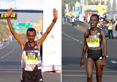 2017 Dubai Marathon winners