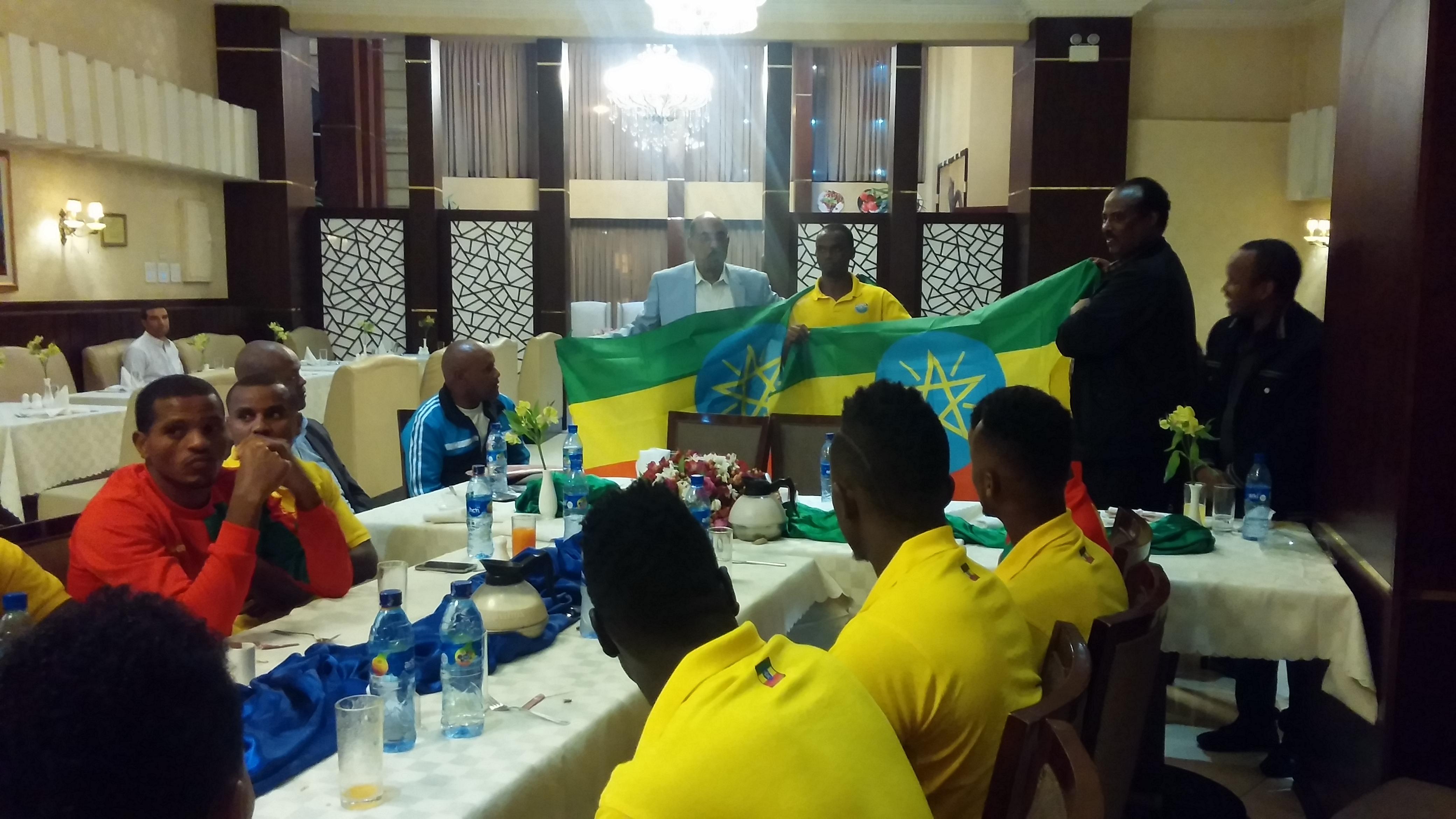 Nation flag handing over Cermony at Captital Hotel