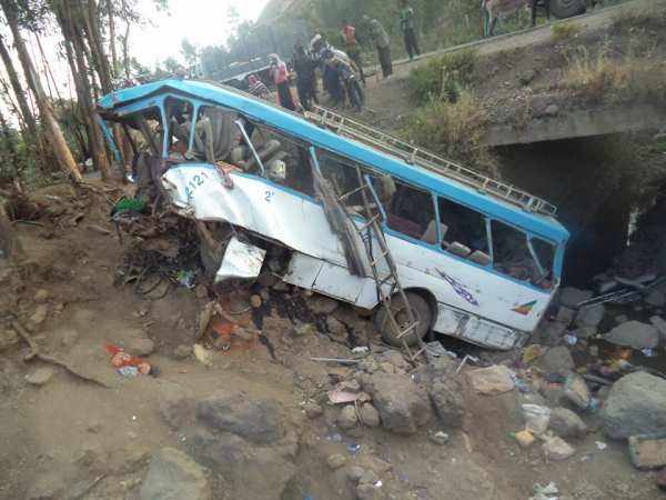 38 killed in bus accident in southern Wollo