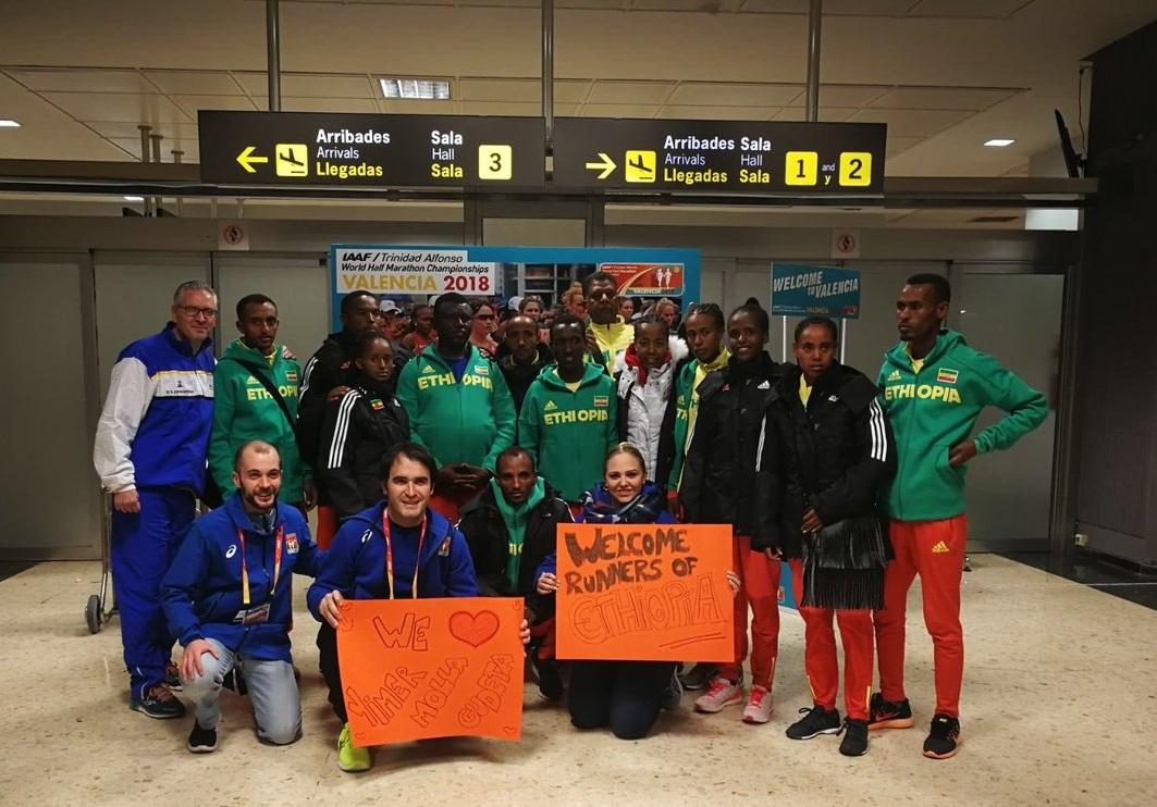 Team Ethiopia arrival in Valencia